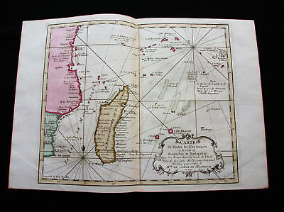 1754 BELLIN - ultra-rare map of SOUTH AFRICA, MADAGASCAR, ZIMBABWE, SWAHILI COST