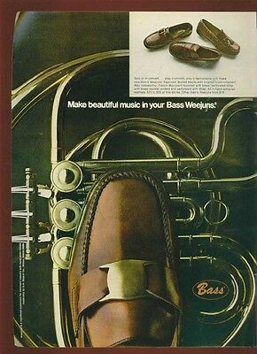 1969 Print Ad for Men's Bass Weejuns Shoes