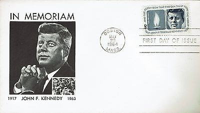 "In Memorial of "" John F. Kennedy "" Gedenkbrief Boston/Mass. 29. May 1964"