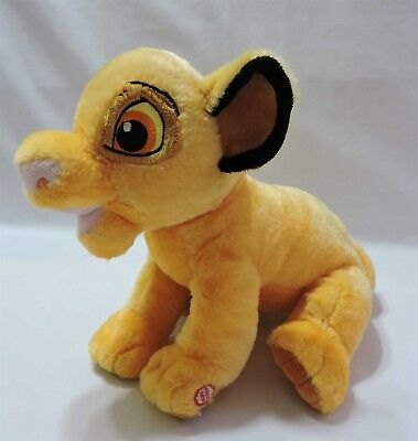 "Lion King Simba Talking Plush Stuffed Animal 13"" Toy Hallmark Disney Soft"