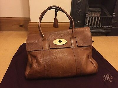 aaeeeb18fa6a ... discount womens mulberry heritage bayswater oak natural leather bag  used repair 80051 d8e64