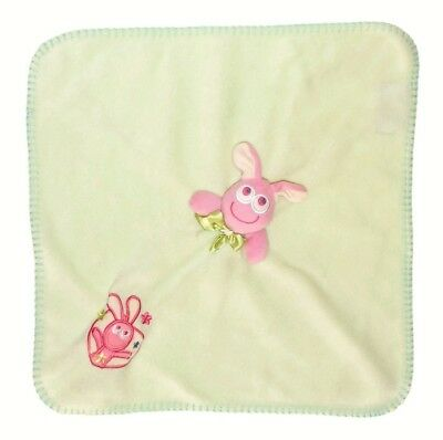 Plush Pink Green Bunny Nunu Lovey Security Blankets Beyond Big Eyes Rabbit