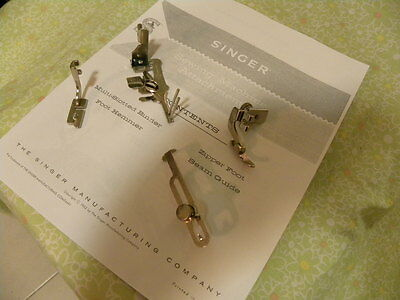 SINGER Sewing Lot of 4 attachments  (Slant shank)