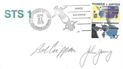 STS-1 Crew John Young & Bob Crippen Signed Cover