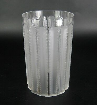 Lalique Glas Jaffa Becher signiert France Glass Tumbler signed ca. 12,4cm RARE