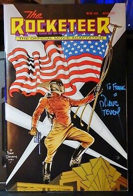 The Rocketeer The Official Movie Adaptation-1991-Vf Cond.-Signed By Dave Stevens