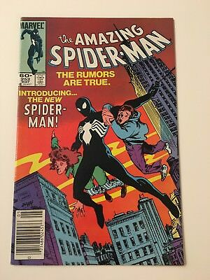 Amazing Spiderman #252 1st Black Costume that becomes Venom (Marvel Comics 1984)