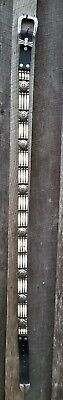 """Awesome Vintage 42"""" Native American Indian Nickle   Hairpipe  Concho Belt"""