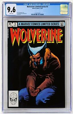 Wolverine #3 (Limited Series) CGC 9.6 White Pages!