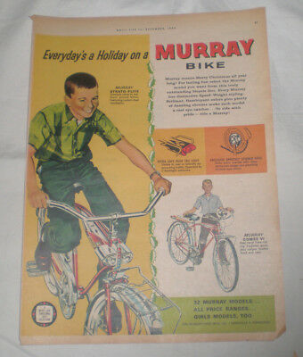 1962 MURRAY BICYCLE Color Print Ad