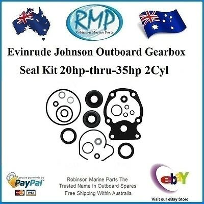 A Brand New Gearbox Seal Kit Johnson Evinrude Outboards 20hp-thru-35hp # 396351