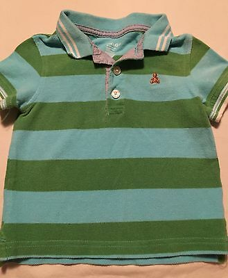 Baby Gap Boys Short Sleeve Polo Shirt Size 18-24 Months Blue Green