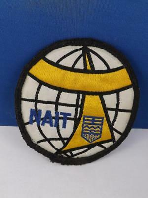 Northern Alberta Institute Of Technology Nait Globe  Patch Vintage Crest Badge