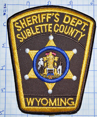 Wyoming, Sublette County Sheriff's Dept Patch