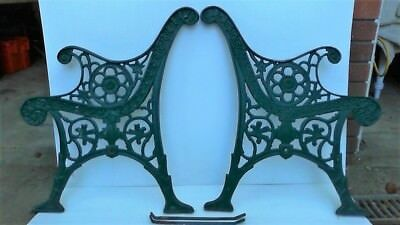 Antique/vintage Cast Iron / Aluminium Benchseat Garden Chair Ends - Nsw - L@@k