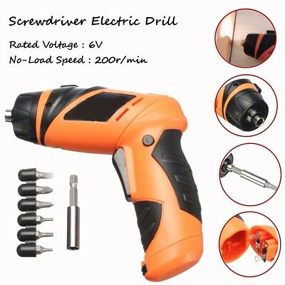 6V Portable Electric Screwdriver Battery Operated Cordless Wireless+Screw Drill