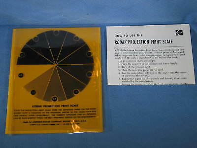 Vintage KODAK PROJECTION PRINT SCALE Enlarging Printing Aid w/ Instructions