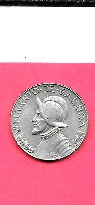 PANAMA KM11.2a 1966 VF-VERY FINE-NICE LARGE OLD VINTAGE 1/4 BALBOA COIN