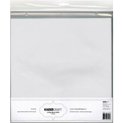 Kaisercraft D-Ring Album Refills 12X12 10/Pkg