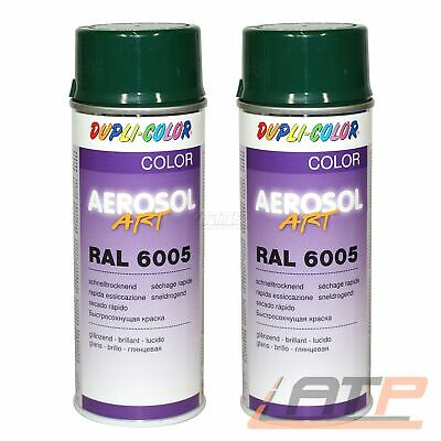 2x 400ml DUPLI COLOR AEROSOL ART RAL 6005 MOOSGRÜN GLANZ LACKSPRAY SPRÜH LACK