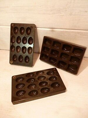 3 Anciens moules à praline chocolat - Vintage chocolate molds