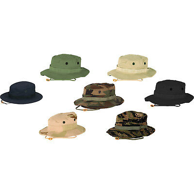 29fcbc82f4b Propper Cotton Military Tactical Boonie Hat w  Chin Strap   Vent Holes -  Size 7