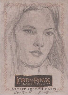 """Lord of the Rings Masterpieces II - David Rabbitte """"Arwen"""" Sketch Card"""