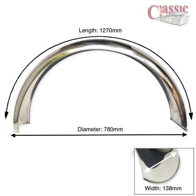 Stainless Steel Mudguard Ideal for Cafe Racers BMW, Yamaha SX650, Moto Guzzi,