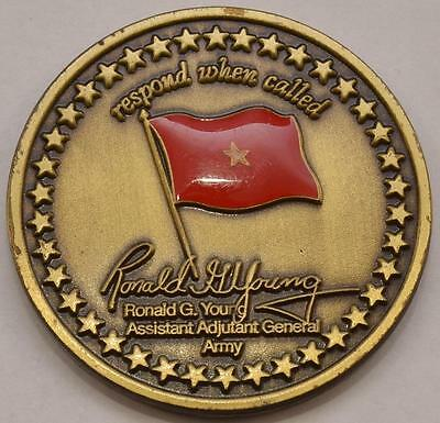 Challenge Coin US Army Ohio Assistant Adjutant 1 Star General Ronald G Young