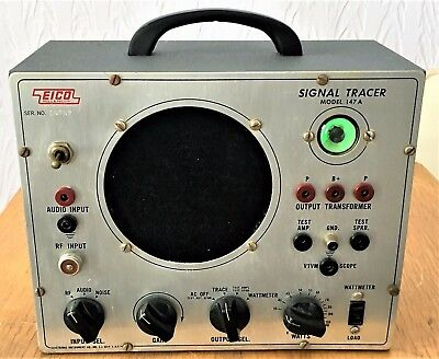 Vintage EICO 147A Signal Tracer - With Probe - Works!