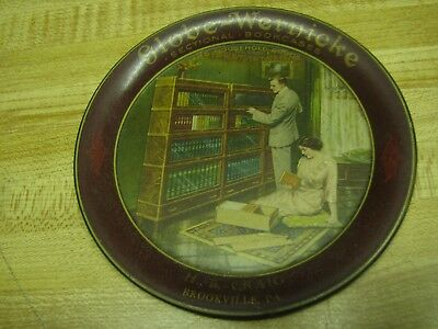 "Globe Wernicke Advertising Tip Tray 4 1/4"" Clean H B Craig Brookville PA"