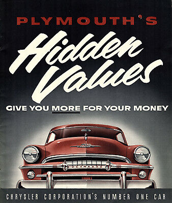1954 Plymouth Dealer Brochure Photos Features Chriysler Corporation Automobilia