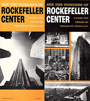 Rockefeller Center Vintage 1963 Promotional Brochure Guided Tour Photos Info