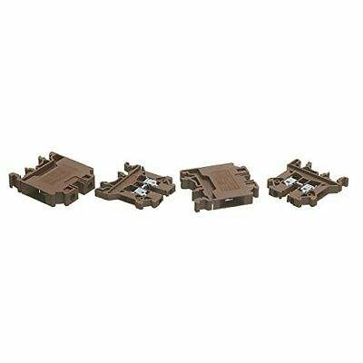 Europa Components CTS2.5UNBROWN-AZ Din Rail Terminals, Brown, 2.5 mm, Set of 100