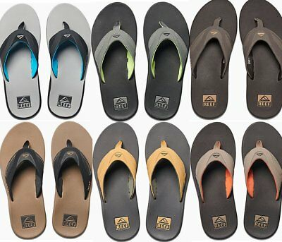 New Reef Fanning Flip Flop Sandal Mens 8-14 All Colors Bottle Opener Free Ship