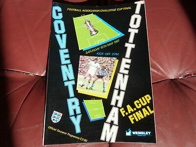 1987 Fa Cup Final Spurs V Coventry