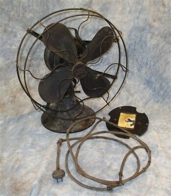 Signal Electric Fan 12 Inch Metal Blades Toggle Switch Parts Repair Vintage