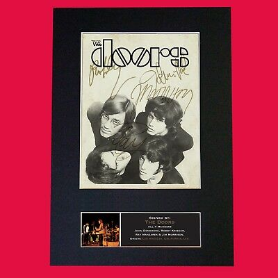 THE DOORS #2 (RARE) Quality Autograph Mounted Signed Photo Repro Print A4 694