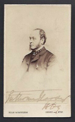 1st Earl of Cranbrook Tory Grandee Politician Signed Antique Victorian CDV Hills