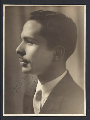 Arab Hashemite Royal King Hussein of Jordan Antique Royal Signed Photograph 1960