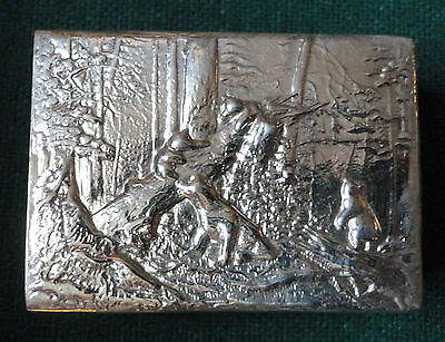 Imperial Russian Silver Match Box by Khlebnikov of Shishkin's Bears Pine Forest