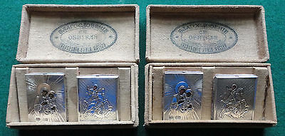 His & Hers Silver Antique Russian Imperial Travelling Icons Circa 1890 by Zakhod