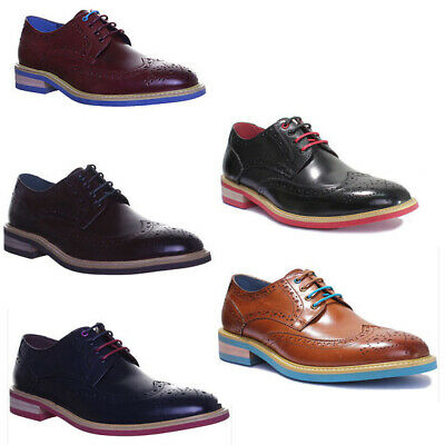Justin Reece Lugano Mens Rubber Contrast Sole Cleated Sole Effect