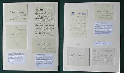 Rare Archive of Letters Prince Alexander of Battenberg to Captain Hayes 1909