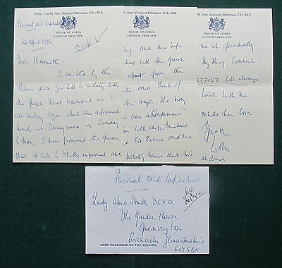 Signed Letter 1st Viscount Whitelaw's Party for Queen Elizabeth II 1984