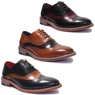 Justin Reece Mark Men Leather Designer Brogue Lace up Shoes Size UK 6 - 12