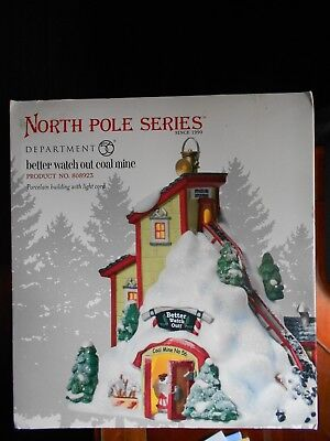 DEPT 56 NORTH POLE Village BETTER WATCH OUT COAL MINE *STILL SEALED*  NIB