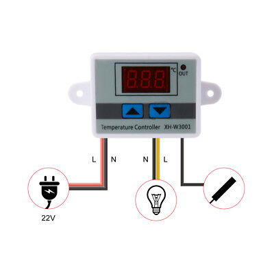 220V Digital LED Temperature Controller Thermostat Control Switch Probe TE848
