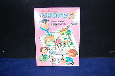 Hanna-Barbera The Flintstones Play Fun Set, Whitman's Paper Toy in Original Box