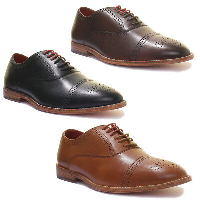 Justin Reece Mens ALL Leather Shoes Lace up Oxford Brogues Size UK 6 - 12